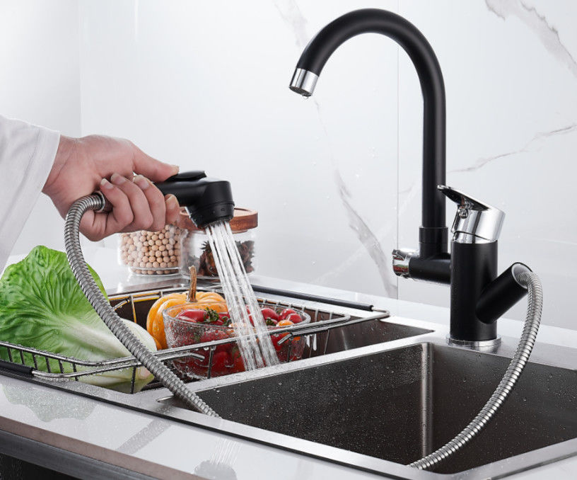 Household Pull Out 360° Rotatable Pressurized Sink Faucet